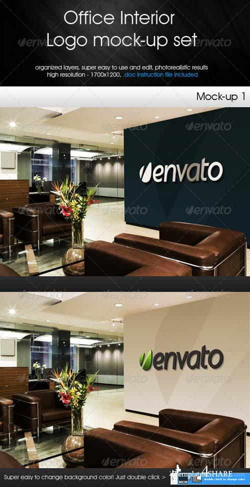 GraphicRiver Office Interior - Logo Mock-up Set