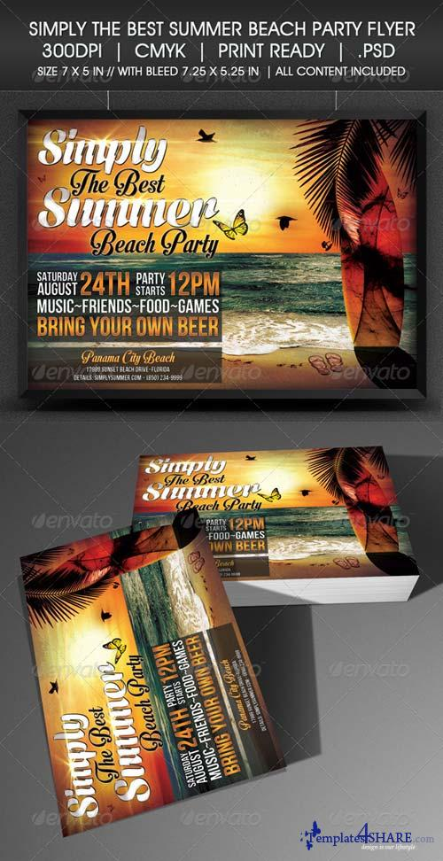 GraphicRiver Simply The Best Summer Beach Party Flyer