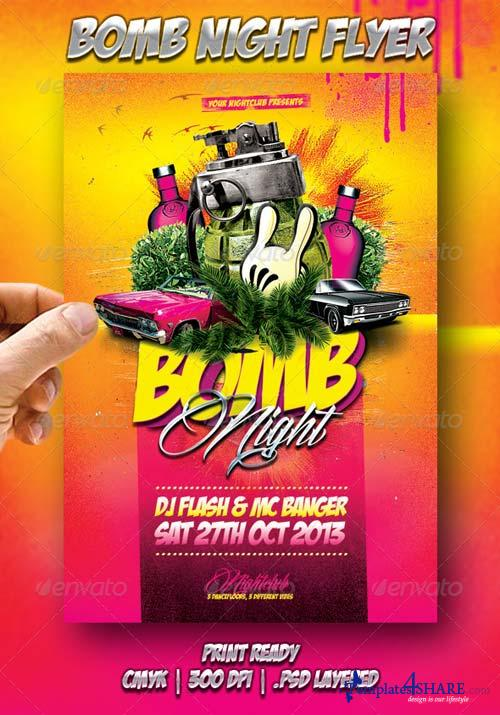 GraphicRiver Bomb Night Flyer