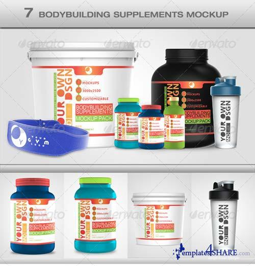 GraphicRiver Bodybuilding Mockup Pack