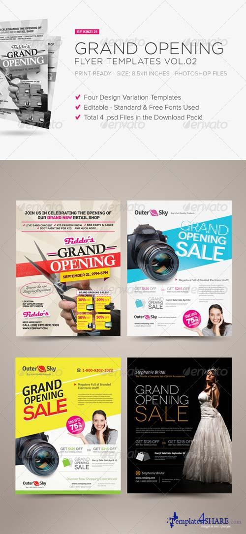 GraphicRiver Grand Opening Flyers Vol.02