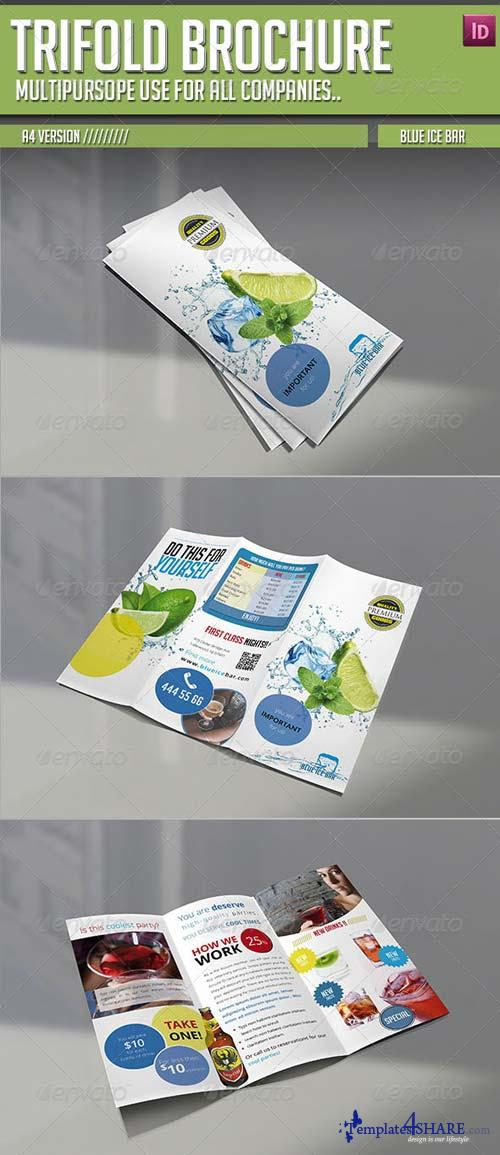 GraphicRiver Trifold Brochure - Blue Ice Bar