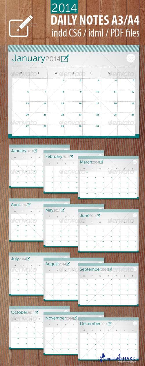 GraphicRiver Daily Notes 2014