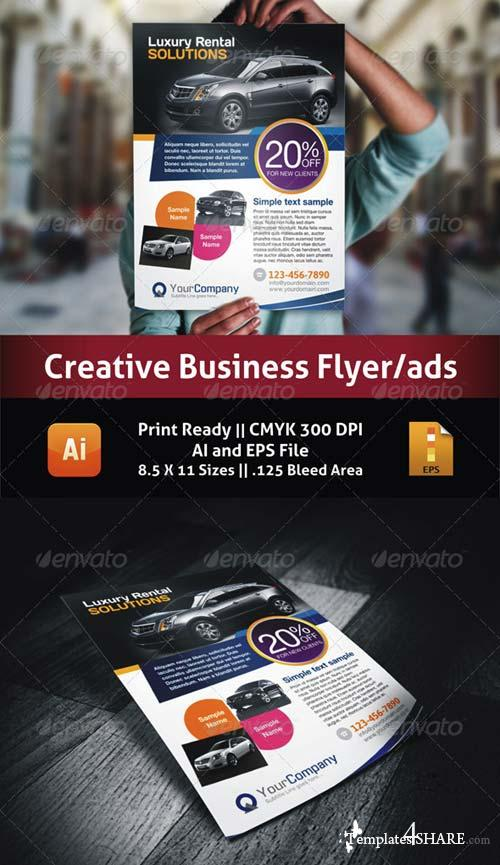 GraphicRiver Luxury Car Business Flyer/Ads