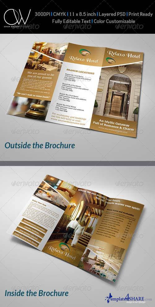 GraphicRiver Hotel and Motel Tri-Fold Brochure Template