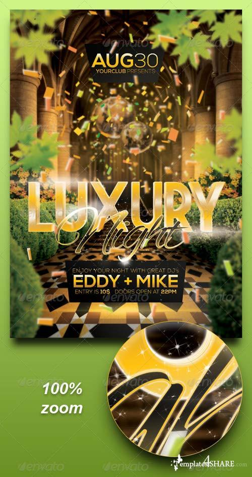 GraphicRiver A4 Luxury Night Party Club Poster