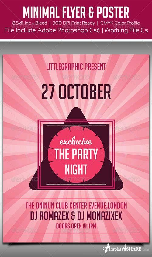 GraphicRiver Minimal Party Flyer / Poster