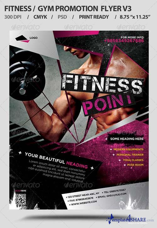 GraphicRiver Fitness/Gym Business Promotion Flyer V3