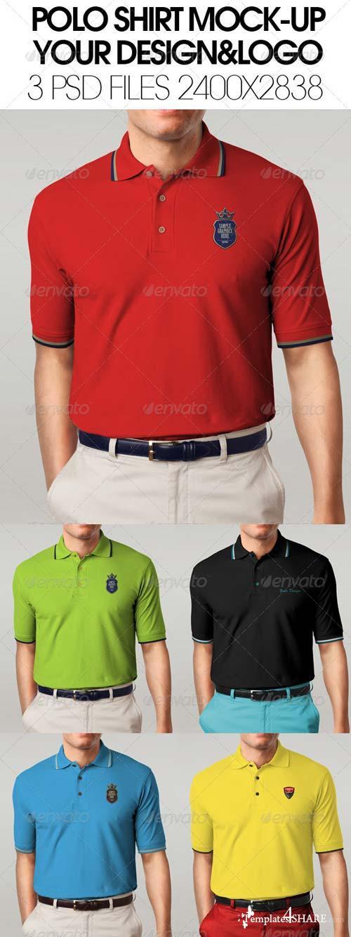 GraphicRiver Polo shirt mock-up