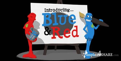 Paint Promo Featuring Blue & Red - After Effects Project (Videohive)