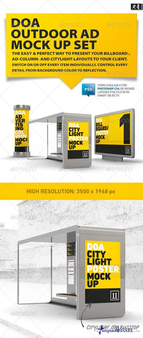 GraphicRiver DOA Outdoor Mock Up Set
