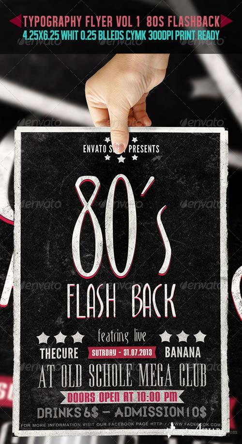 GraphicRiver Typography Flyer Vol 1 - 80's Flashback