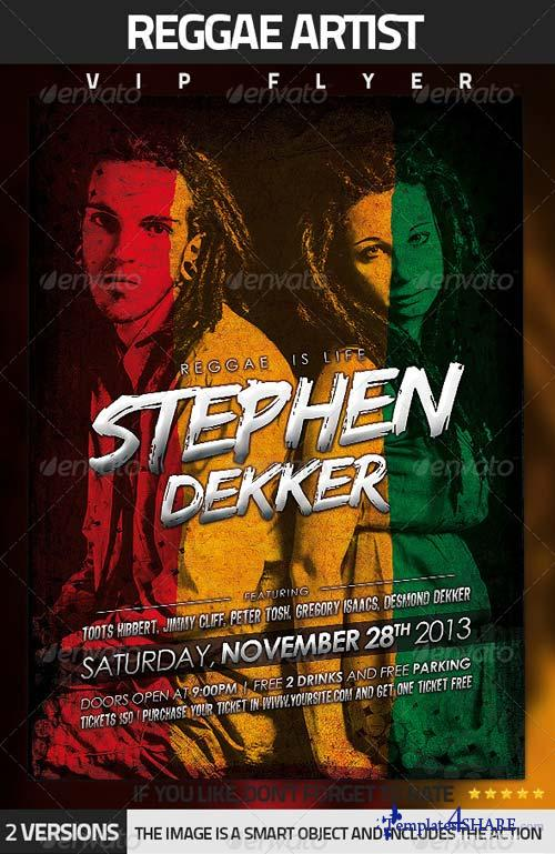 GraphicRiver Reggae Artist Flyer