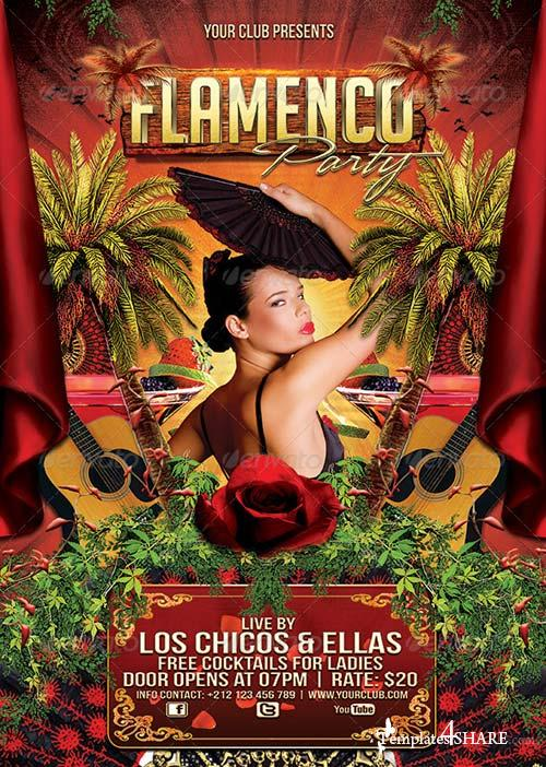 GraphicRiver Flamenco Party Flyer