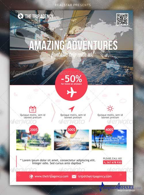 GraphicRiver The Trip Agency - Corporate/Commerce Flyer