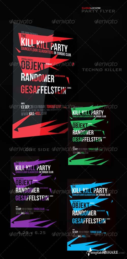 GraphicRiver Killer Techno Flyers