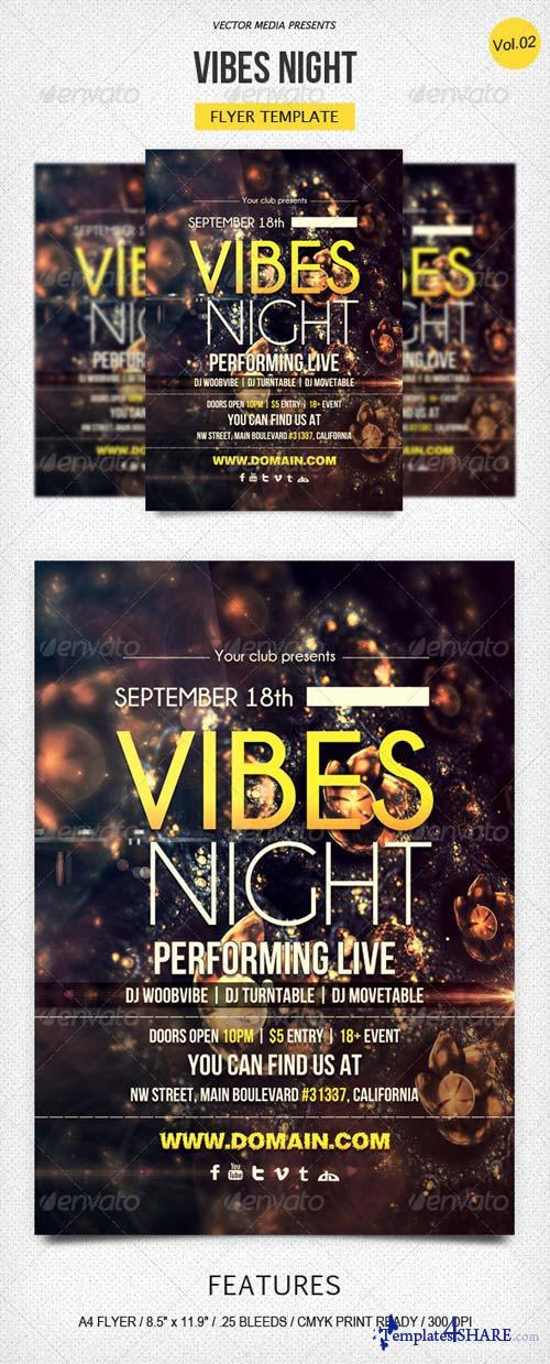 GraphicRiver Vibes Night - Flyer [Vol.2]