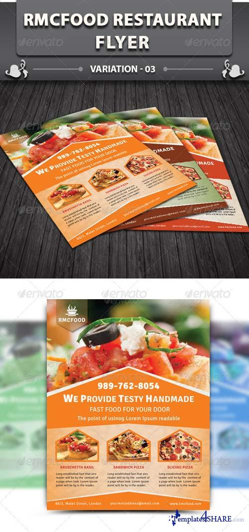 GraphicRiver RMC Food Restaurant Flyer