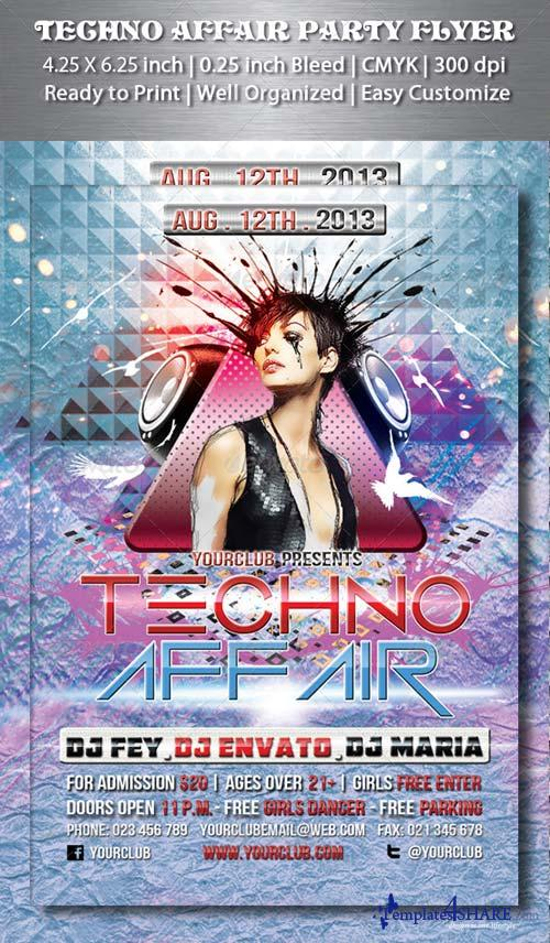 GraphicRiver Techno Affair Party Flyer