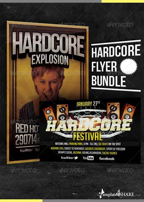GraphicRiver Hardcore Flyer Bundle