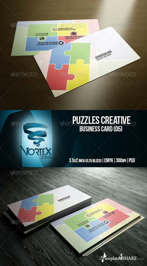 GraphicRiver Puzzles Creative Business Card