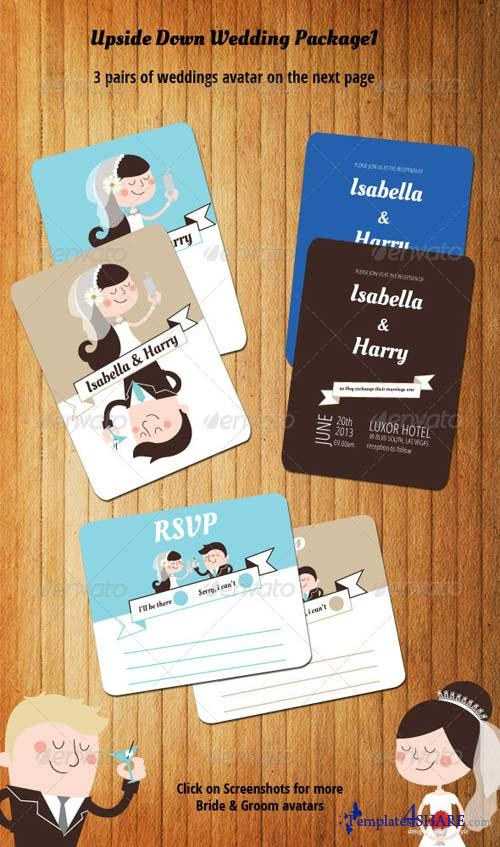 GraphicRiver Upside Down Wedding Package I