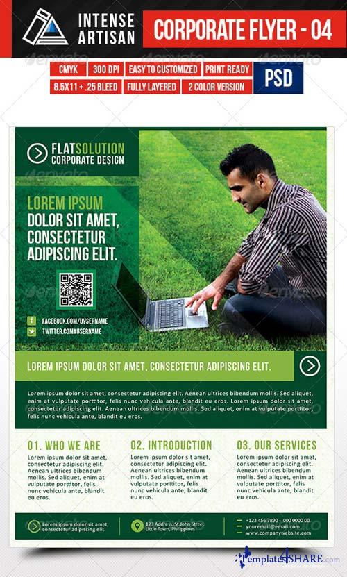 GraphicRiver IntenseArtisan Corporate Creative Flyer - Vol.4