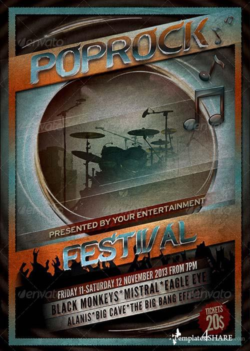 GraphicRiver Pop Rock Festival Flyer