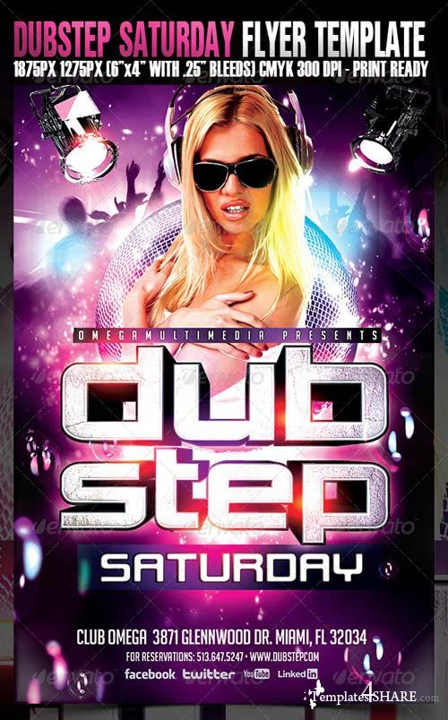 GraphicRiver Dub Step Saturdays