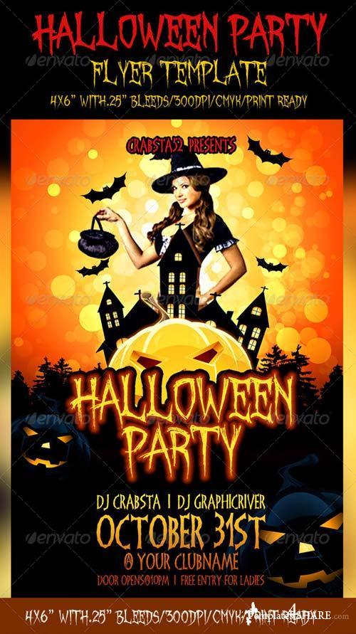 GraphicRiver Halloween Party Flyer Template