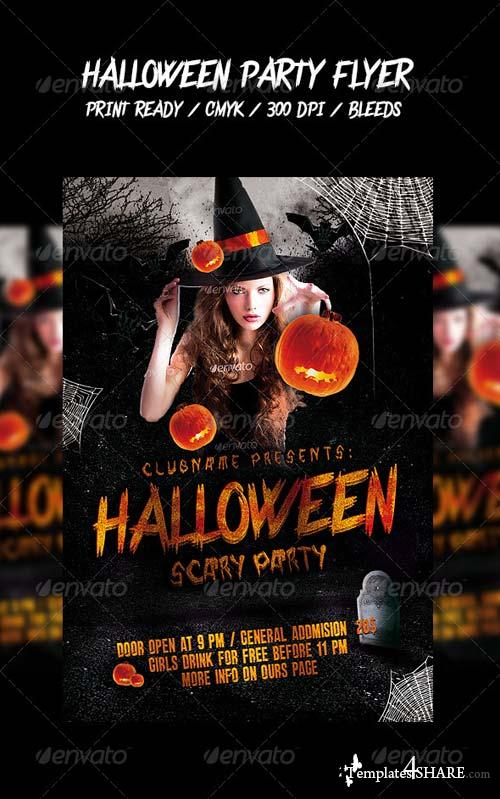 GraphicRiver Halloween Party Flyer 5483487