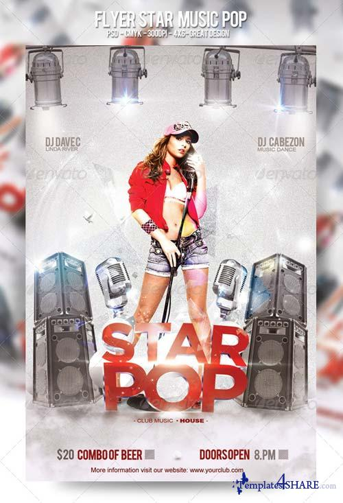 GraphicRiver Flyer Star Music Pop