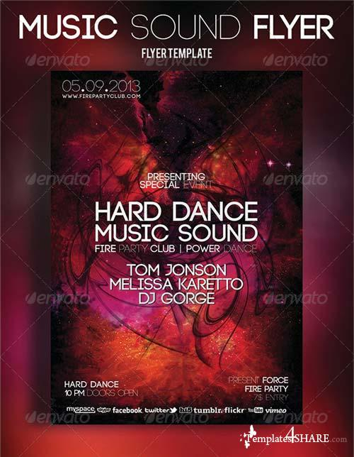 GraphicRiver Music Sound Flyer