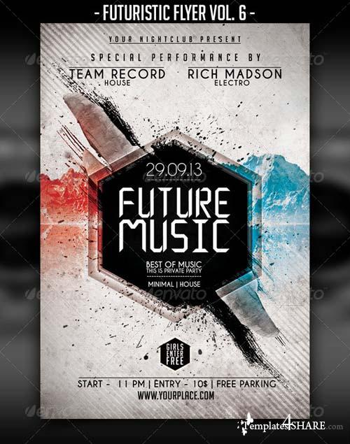 GraphicRiver Futuristic Flyer Vol. 6