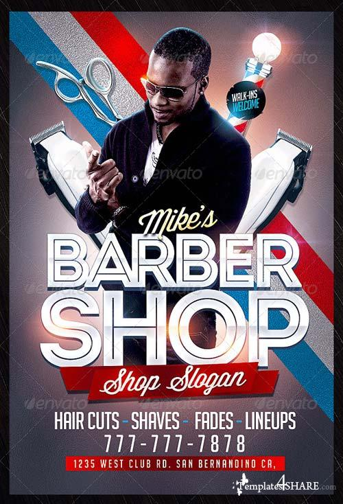 GraphicRiver Barbershop Flyer Template