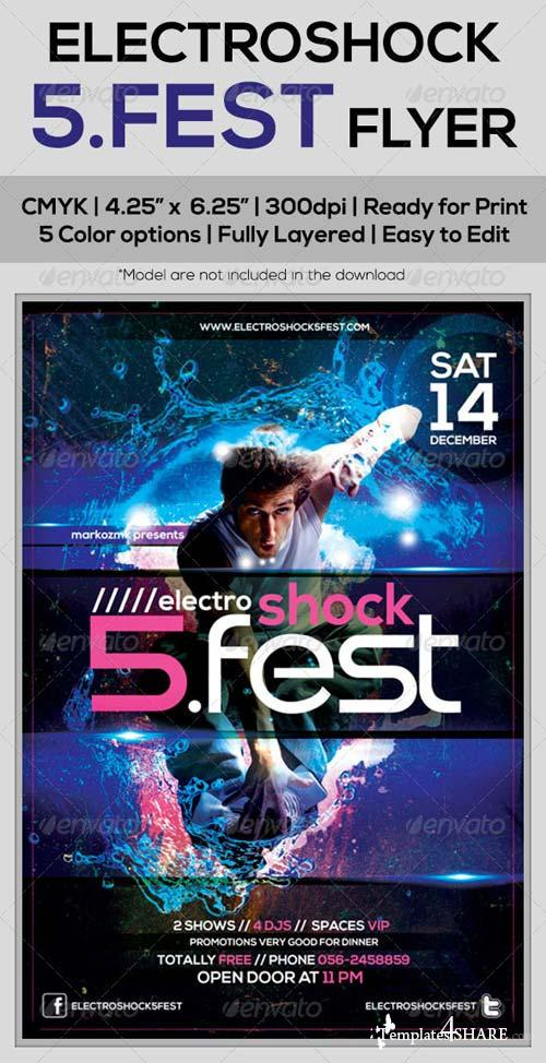 GraphicRiver Electroshock 5Fest Flyer Template