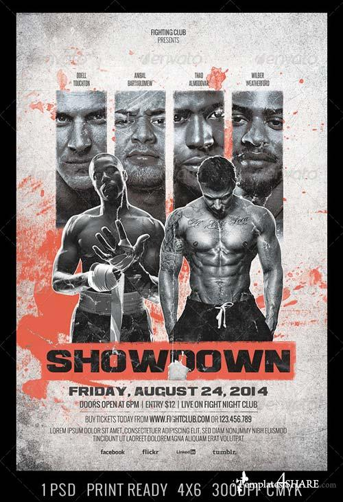 GraphicRiver Showdown Fighting Club Flyer Template