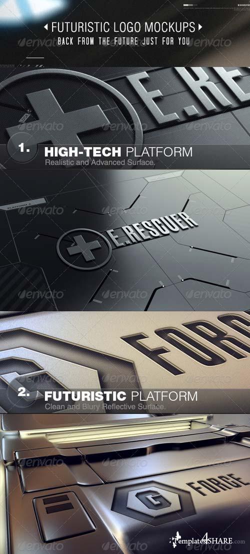 GraphicRiver Futuristic Logo Mockups