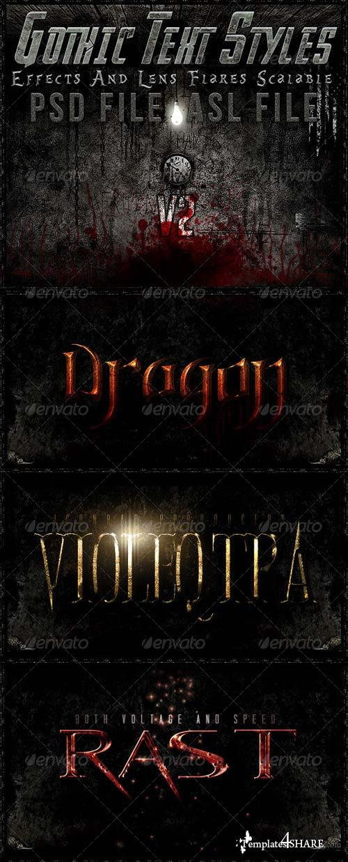 GraphicRiver Gothic Text Styles v2