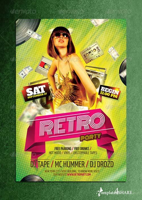 GraphicRiver Retro Party Flyer 5526869