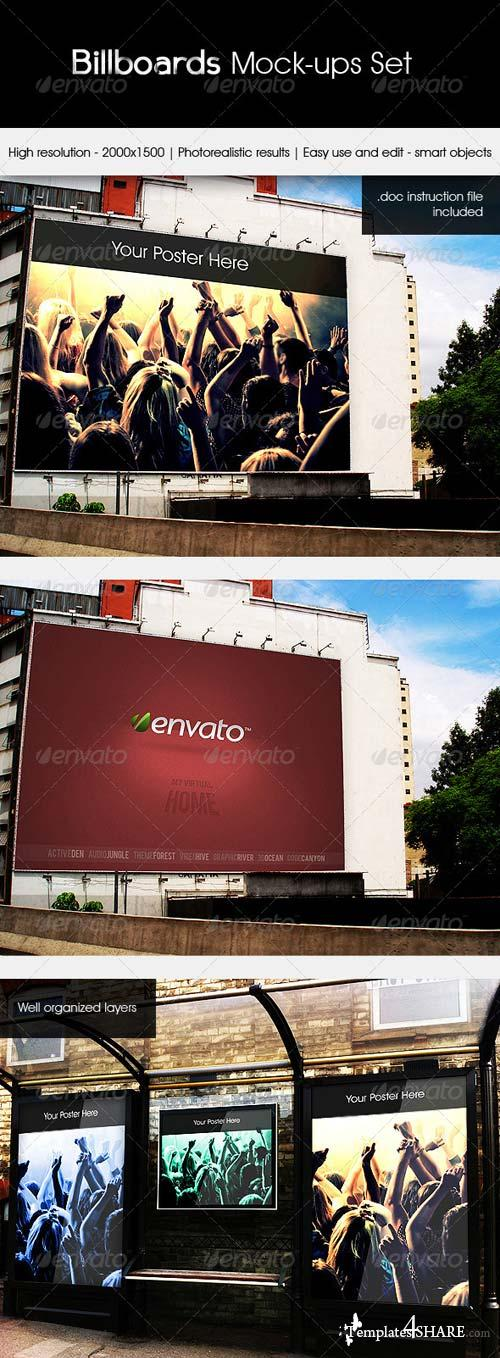 GraphicRiver Billboards Mock-ups Set