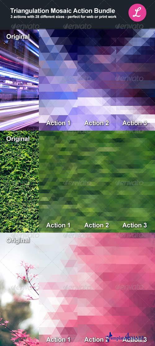 GraphicRiver Triangulation Mosaic Bundle Actions