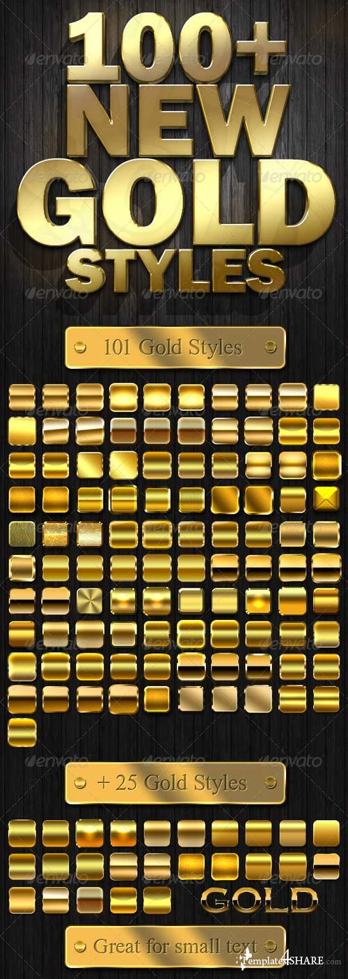 GraphicRiver 100+ New Gold Styles