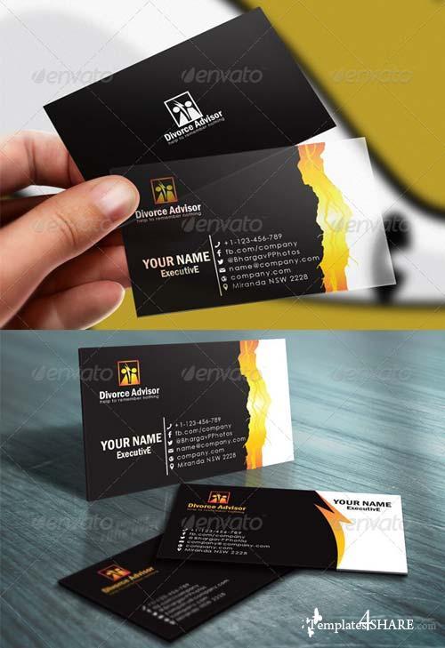 GraphicRiver Divorce Advisory Business Card Templates