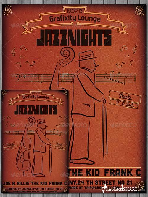 GraphicRiver JazzNights - Vintage/Retro Poster & Flyer