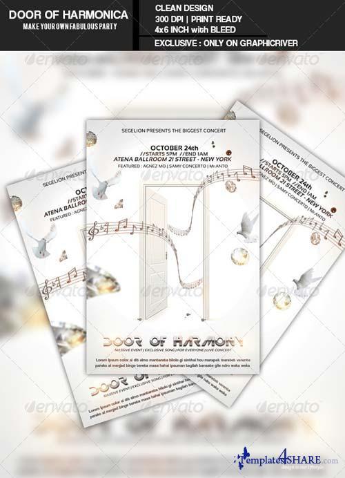 GraphicRiver Door Of Harmonica Flyer