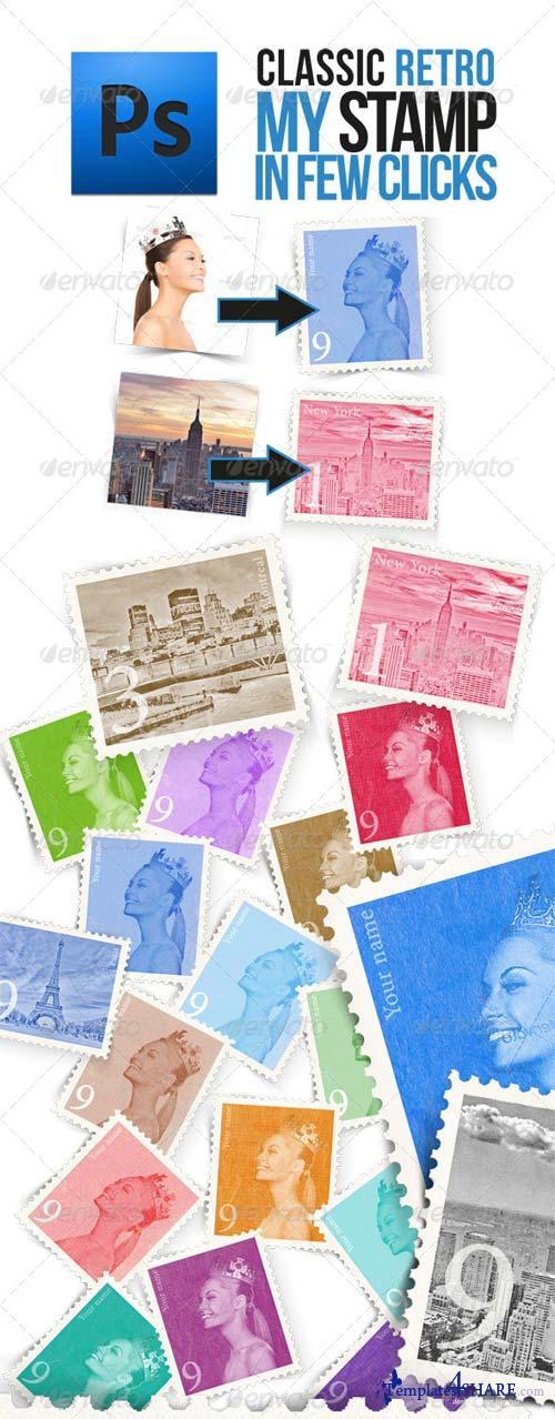 GraphicRiver Retro Postage Stamp Template