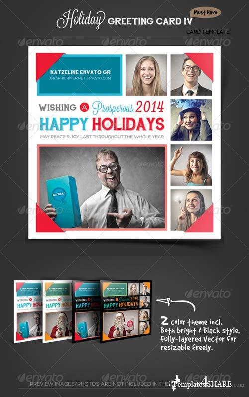 GraphicRiver Photo Collage Holiday Greeting Card