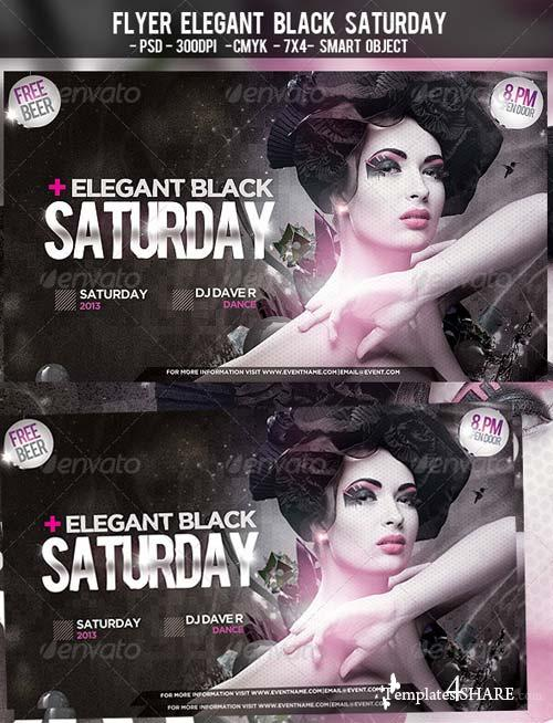 GraphicRiver Flyer Elegant Black Saturday