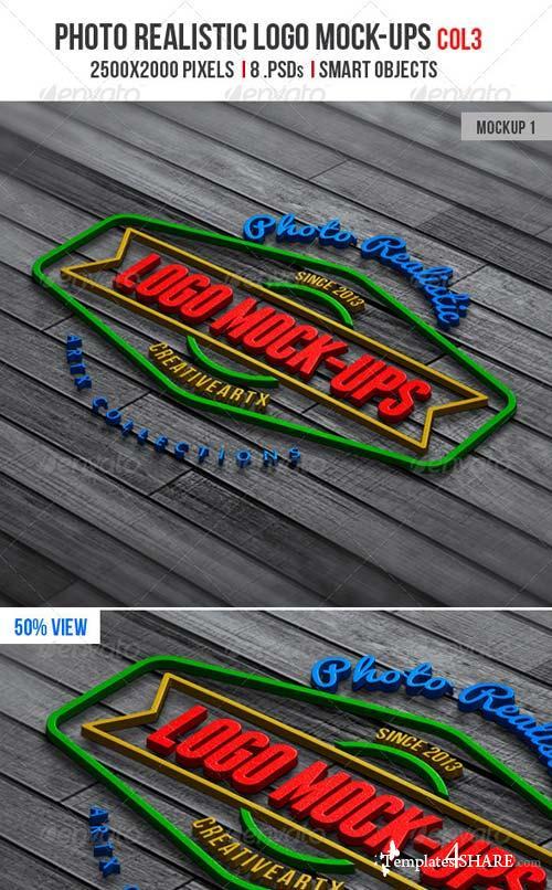 GraphicRiver Photorealistic Logo Mock-Ups Col.3